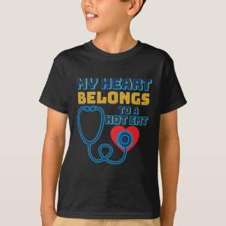 My Heart Belongs To A Hot EMT T-Shirt