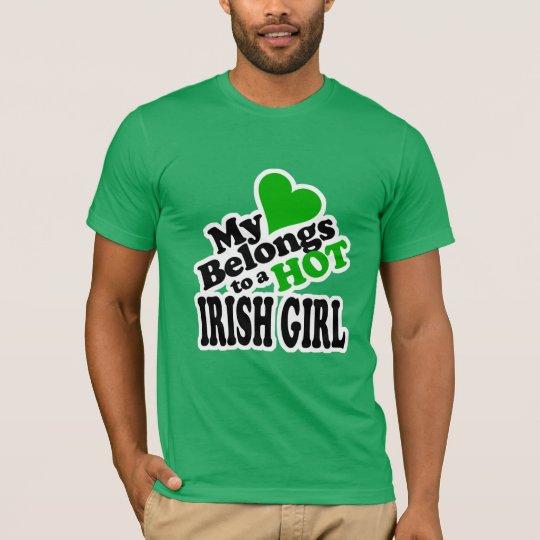 My Heart Belongs to a HOT Irish Girl T-Shirt