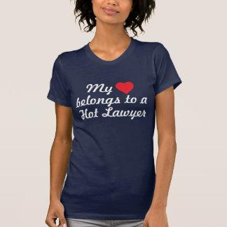 My heart belongs to a Hot Lawyer Tshirt
