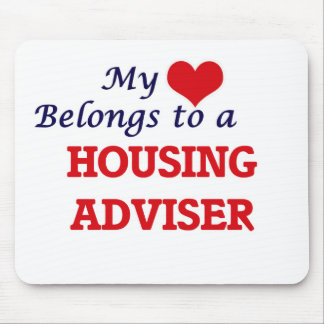 My heart belongs to a Housing Adviser Mouse Pad