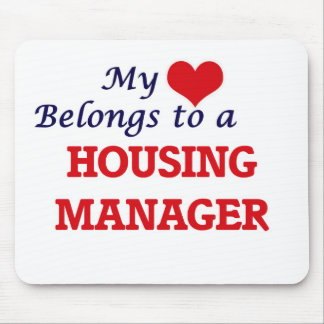 My heart belongs to a Housing Manager Mouse Pad