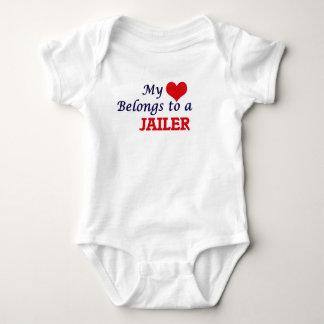 My heart belongs to a Jailer Baby Bodysuit