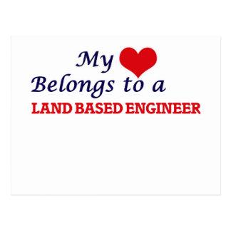 My heart belongs to a Land Based Engineer Postcard