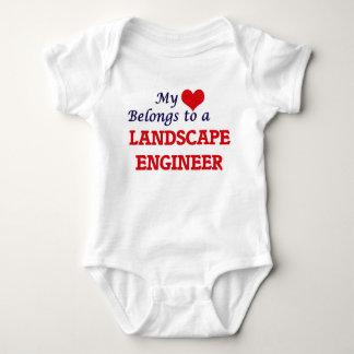 My heart belongs to a Landscape Engineer Baby Bodysuit