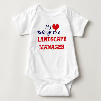 My heart belongs to a Landscape Manager Baby Bodysuit