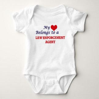 My heart belongs to a Law Enforcement Agent Baby Bodysuit