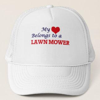 My heart belongs to a Lawn Mower Trucker Hat