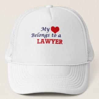 My heart belongs to a Lawyer Trucker Hat
