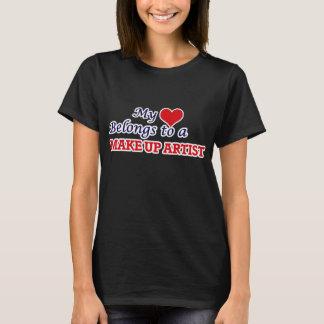 My heart belongs to a Make Up Artist T-Shirt