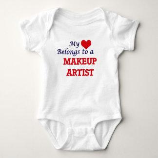 My heart belongs to a Makeup Artist Baby Bodysuit