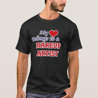 My heart belongs to a Makeup Artist T-Shirt