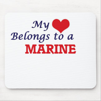 My heart belongs to a Marine Mouse Pad