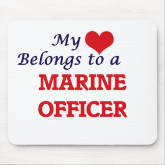 My heart belongs to a Marine Officer Mouse Pad