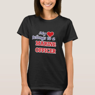 My heart belongs to a Marine Officer T-Shirt