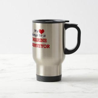 My heart belongs to a Marine Surveyor Travel Mug
