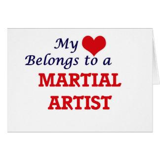 My heart belongs to a Martial Artist Card