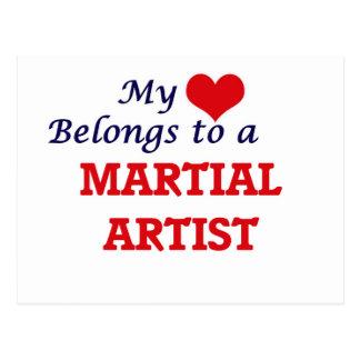 My heart belongs to a Martial Artist Postcard