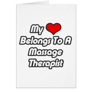 My Heart Belongs To A Massage Therapist Card