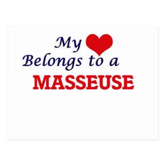 My heart belongs to a Masseuse Postcard