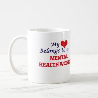 My heart belongs to a Mental Health Worker Coffee Mug