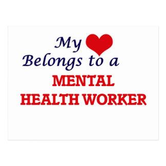 My heart belongs to a Mental Health Worker Postcard