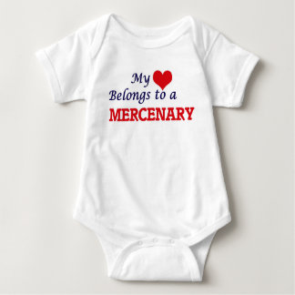 My heart belongs to a Mercenary Baby Bodysuit