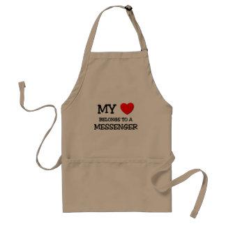My Heart Belongs To A MESSENGER Standard Apron