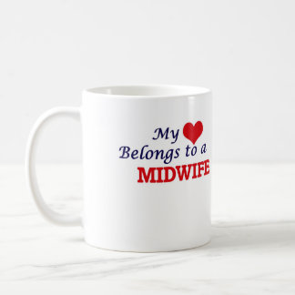 My heart belongs to a Midwife Coffee Mug