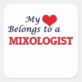 My heart belongs to a Mixologist Square Sticker
