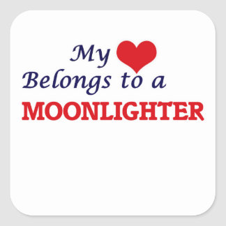 My heart belongs to a Moonlighter Square Sticker