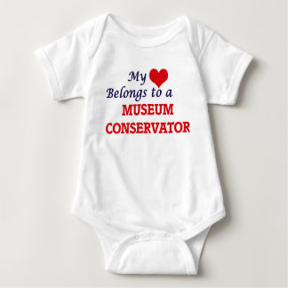 My heart belongs to a Museum Conservator Baby Bodysuit
