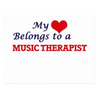 My heart belongs to a Music Therapist Postcard