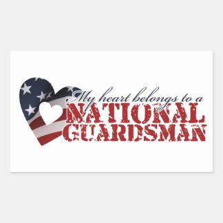 My heart belongs to a National Guardsman Sticker