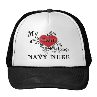 My Heart Belongs to a Navy Nuke Trucker Hat