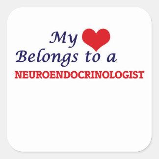 My heart belongs to a Neuroendocrinologist Square Sticker