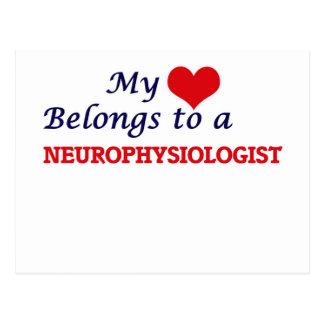 My heart belongs to a Neurophysiologist Postcard