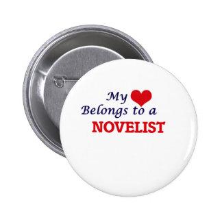 My heart belongs to a Novelist 2 Inch Round Button