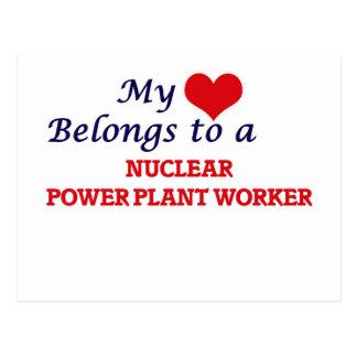 My heart belongs to a Nuclear Power Plant Worker Postcard