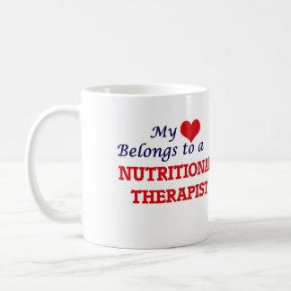 My heart belongs to a Nutritional Therapist Coffee Mug