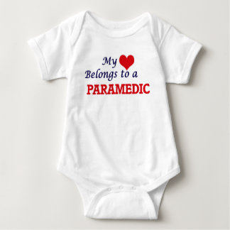 My heart belongs to a Paramedic Baby Bodysuit