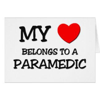 My Heart Belongs To A PARAMEDIC Greeting Card