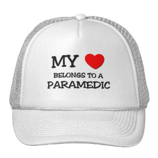 My Heart Belongs To A PARAMEDIC Trucker Hats