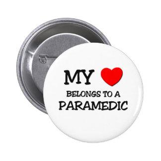 My Heart Belongs To A PARAMEDIC Pinback Button