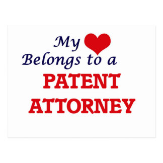 My heart belongs to a Patent Attorney Postcard
