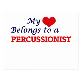 My heart belongs to a Percussionist Postcard