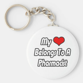 My Heart Belongs To A Pharmacist Keychain
