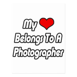 My Heart Belongs To A Photographer Postcard