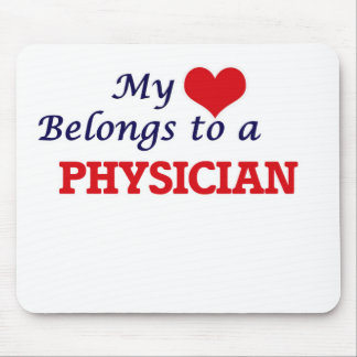 My heart belongs to a Physician Mouse Pad
