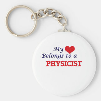 My heart belongs to a Physicist Basic Round Button Keychain