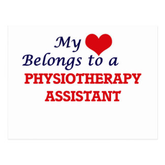 My heart belongs to a Physiotherapy Assistant Postcard